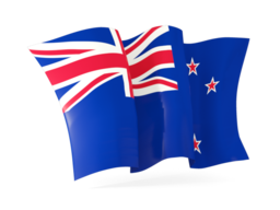 new zealand waving flags
